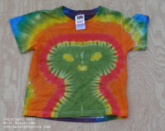 Aliens Exist Tie Dye T-Shirt (Fruit of the Loom Size Youth XS 2/4) (One of a Kind)