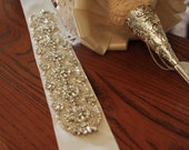 "24"" Wedding Sash Belt, Bridal Belt, Sash Belt, Wedding Dress Sash, Crystal Rhinestone Belt"