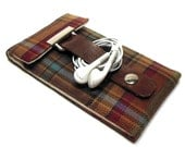 iPhone 5 case - brown, red and orange plaid