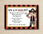Pirate birthday party invitation (custom), printable file