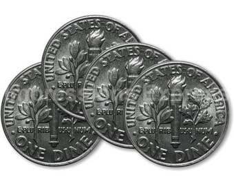 Dime Coin Coasters - Set of 4
