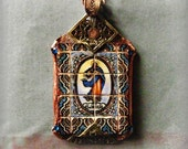 pendant  artisan copper Our Lady of the Immaculate Conception Portuguese tile necklace