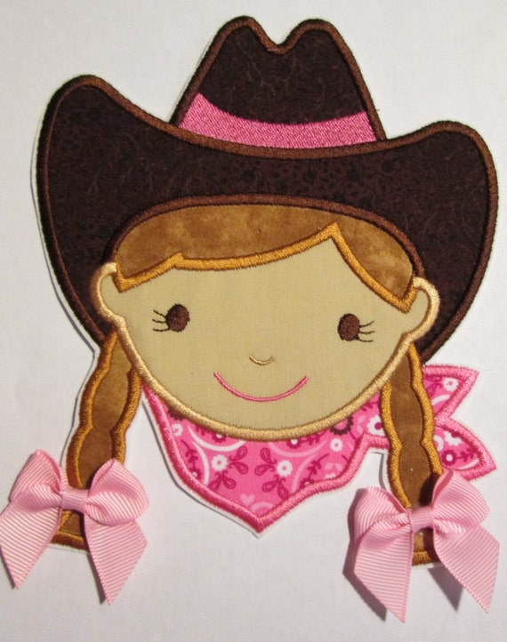 Iron On Applique -  Cowgirl 7856CG