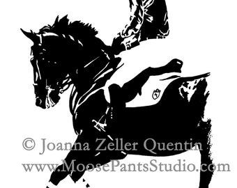 Hunter Jumper HoofPRINTS NOTECARDS EQUINE  Stationery Set 10 cards with envelopes by Joanna Zeller Quentin