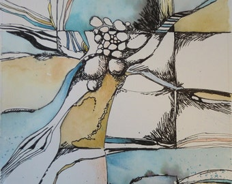 """Original Abstract """"Stones and Sand"""""""