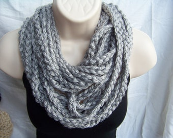 Crochet Infinity Rope Scarf