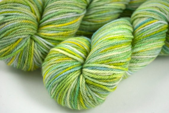 "DK Organic Merino ""Spring Fever"" Light Green, Yellow, Blue"