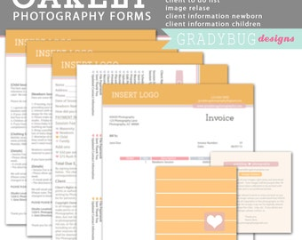 Oakley PHOTOGRAPHY FORMS - Image Release, Photography Contract, Client to Do List, Invoice,Model Release, Client Information Page