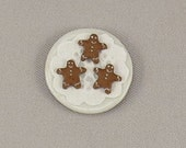 Dollhouse Miniature 3 Gingerbread Man Cookies on Tiny Plate