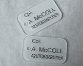 United States Colonial Marines Personalized Dogtags - YOUR name & details on custom made USCM prop replica.