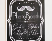 Printed Photo Booth Sign. Photo Booth Prop. Photobooth Prop. Photo Booth.Chalkboard Sign, Wedding Reception. Chalk