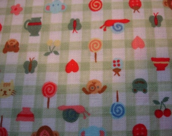 FABRIC Gingham Nicole de Leon for Alexander Henry 1998 -Last 1.25 Yard Unwashed - #CH3