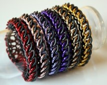Shiny Stretchy Half Persian Chainmail Bracelet