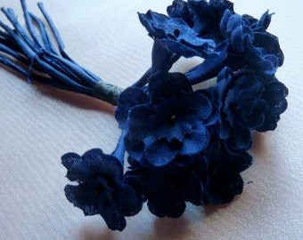 Navy Flowers Millinery Primroses for Bridal, Boutonnieres, Headbands, Hats, Corsages, Bouquets MF 234