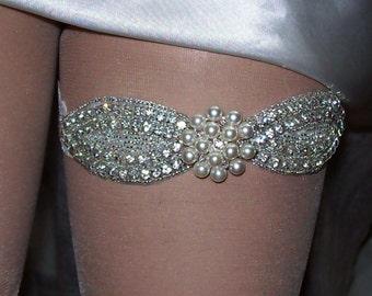 Sale,Rhinestone Garter,Wedding Garter,Bridal Garter,Heirloom Garter Set,Lace Garter,Garter with Pearls