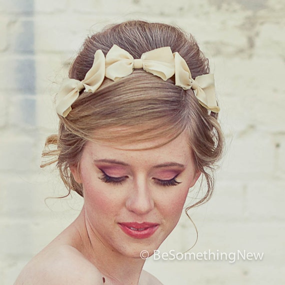 Three Little Bows Headband for Adults, Women Hair Accessory, Fashion Hair Accessories, Hair Accessories Bow