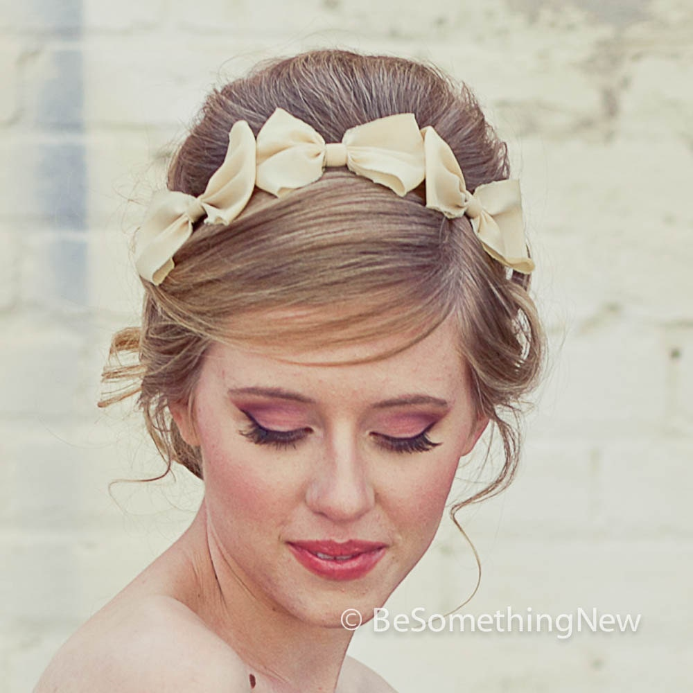 Three Little Bows Headband For Adults Women Hair Accessory