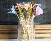 Pennant Flag Cake Toppers