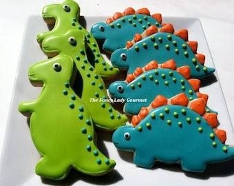 Custom Dinosaur cookies 1 dozen