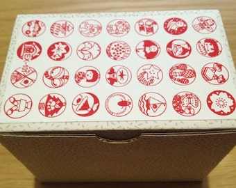 Japanese Hanko stamp set - 28pcs
