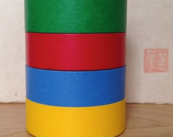 mt masking tape- solid colours - green, red, blue and yellow - single piece