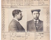 Criminal Mugshot Drug Dealer Opium Portland Seattle San Francisco California - American Male - Handwritten Vintage Bertillon Card