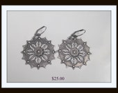 Large silver Filigree Earrings