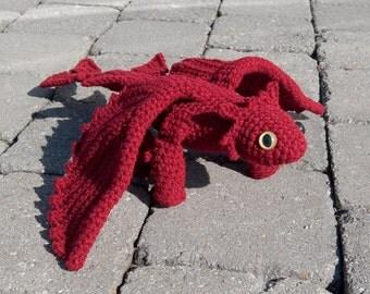 PDF Crochet Pattern - Amigurumi Dragon II