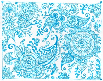Pen and Ink Mehndi Inspired Drawings