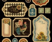 French Country - Graphic 45 - Chipboards 1 and 2