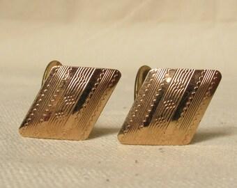 Gold Filled Kreisler Quality Cufflinks Diamond Shaped