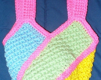 Child-Sized Crocheted Windmill Bag - Bright Colors - ready to ship