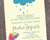 Raining Baby Shower Invitations - 1.00 each with envelope