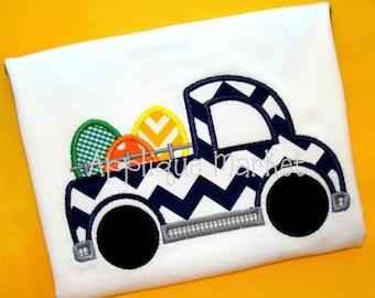 Machine Embroidery Design Applique Truck Eggs 2 INSTANT DOWNLOAD