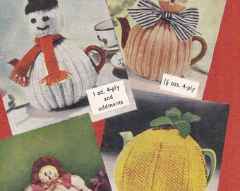 Novelty Tea Cosy Knitting Patterns : Pineapple Tea Cosy Vintage Knitting Pattern 354 sent by PDF