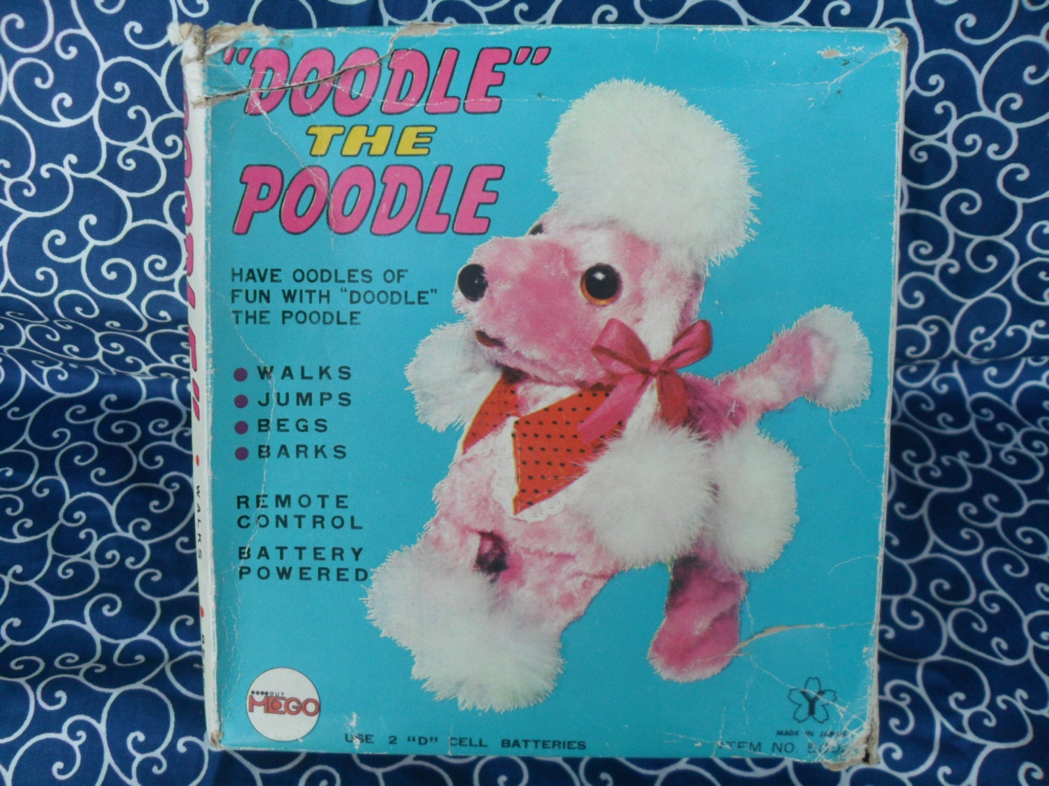 Vintage Doodle The Poodle Dog Battery Operated By
