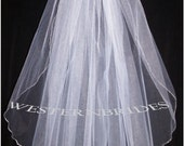 One tier Elegant Wedding Bridal veil. ANY COLOR, your choice. shoulder length with silver comb ready to wear