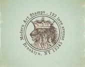 Custom Stamp   Custom Rubber Stamp   Personalized Stamp   Vintage   Lion Stamp   King Stamp   Royalty Stamp   V3