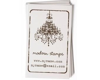 Business Card Stamp   Custom Rubber Stamp   Custom Stamp   Personalized Stamp   Vintage Chandelier Stamp   Vintage Stamp   BC26