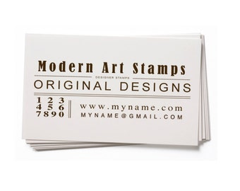 Business Card Stamp   Custom Rubber Stamp   Custom Stamp   Personalized Stamp   Vintage Stamp   Text Stamp   BC60