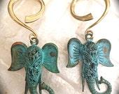 Patina Elephant 6 Gauge Plugs