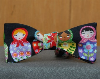 Russian Doll Mens Bow tie