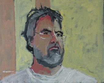 "Artist Self Portrait Painting . ""Brooklyn"" 16x20 in."