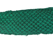 Emerald GREEN Exotic Glossy Eco Friendly, CHROME free, real Tilapia Fish Leather Skin from Go Fish Leather. Sold by each skin.