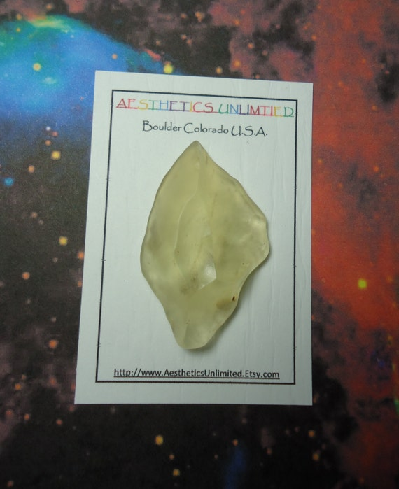 LIBYAN DESERT GLASS Natural Meteorite Tektite Impact Glass Ancient Tool With No Chips From Egypt