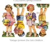 Vintage Easter Children German Die Cuts C-414 for Tags, Scrapbooking, Cardmaking, Altered Art, Journaling Spots, Mini Journals