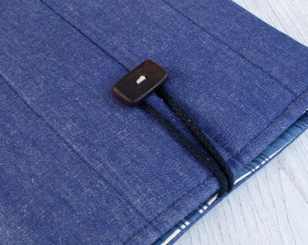 Laptop sleeve for 13 inch macbook/ denim