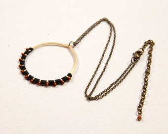 Full Moon Rising Necklace (black, copper)