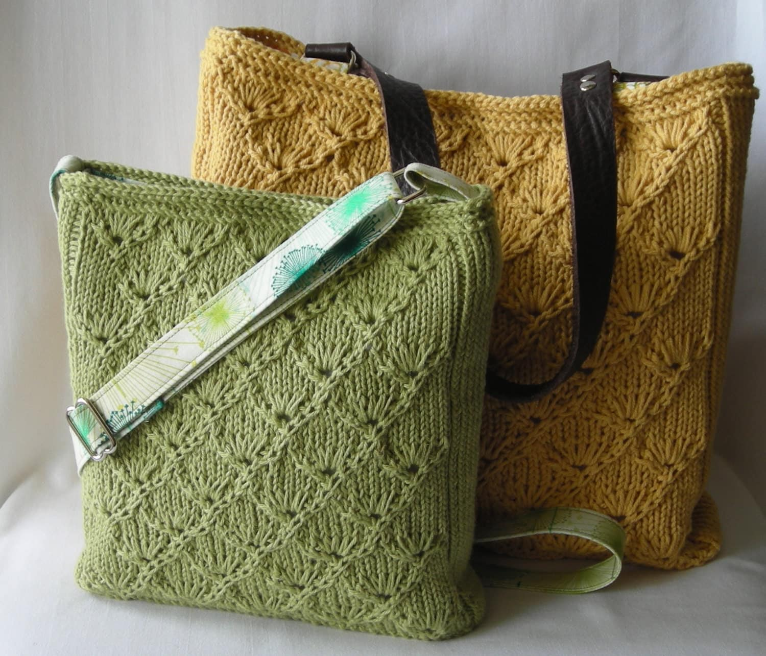 Knitted Purse Pattern : Summer Knitted Hipster Purse and Tote Knitting Pattern PDF