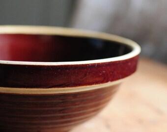 Brown Stoneware Bowl
